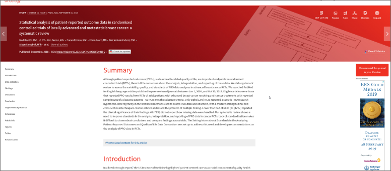 Lancet website